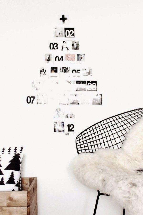 Un sapin de Noël DIY avec des polaroids