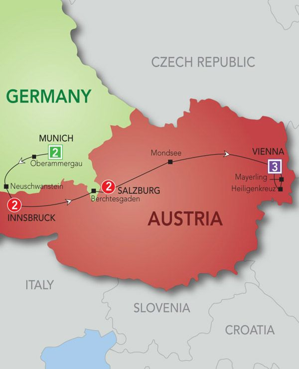 Sound of Music tour through Germany and Austria