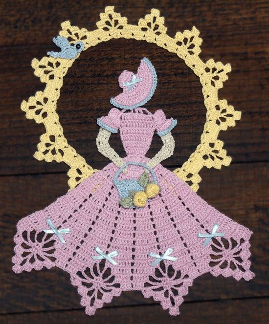 Spring is in the Air Crinoline Girl Doily-crochet pattern to buy