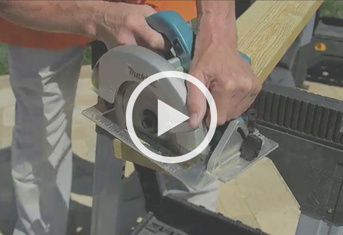Cut wood - Build Picnic Table Cooler