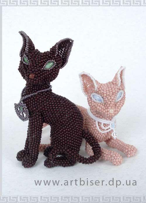 """Авторские игрушки из бисера Волховской Ульяны :: """"Египетские кошки"""" ::"""