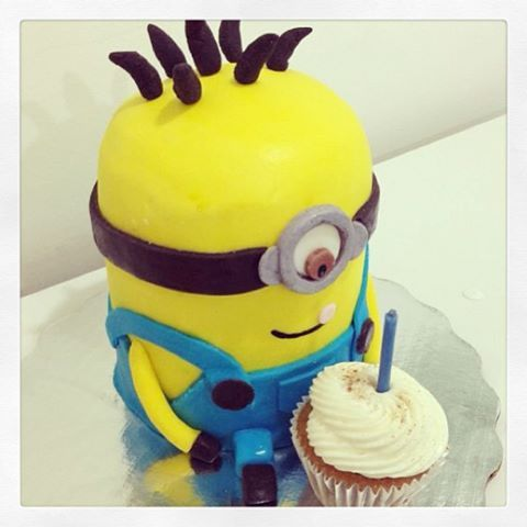 #Minion ♡ con #cupcake
