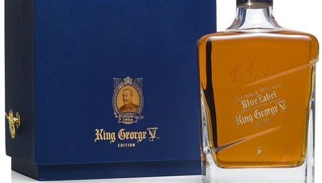 Johnnie Walker Blue Label King George V Edition Scotch Malt Whisky   Spirits    While the regular Johnnie Walker Blue Label combines rich and luxurious fruitcake and cream flavors, this special edition of Blue Label King George V is more restrained, more layered, and much more complex. Worth Knowing The spirit's limited release in 2007 marked the appointment of Johnnie Walker and Sons as purveyors of whisky to the royal household in 1934.
