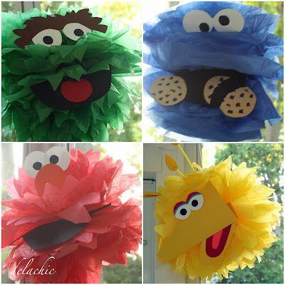 pompones de papel seda personalizados para fiestas infantiles