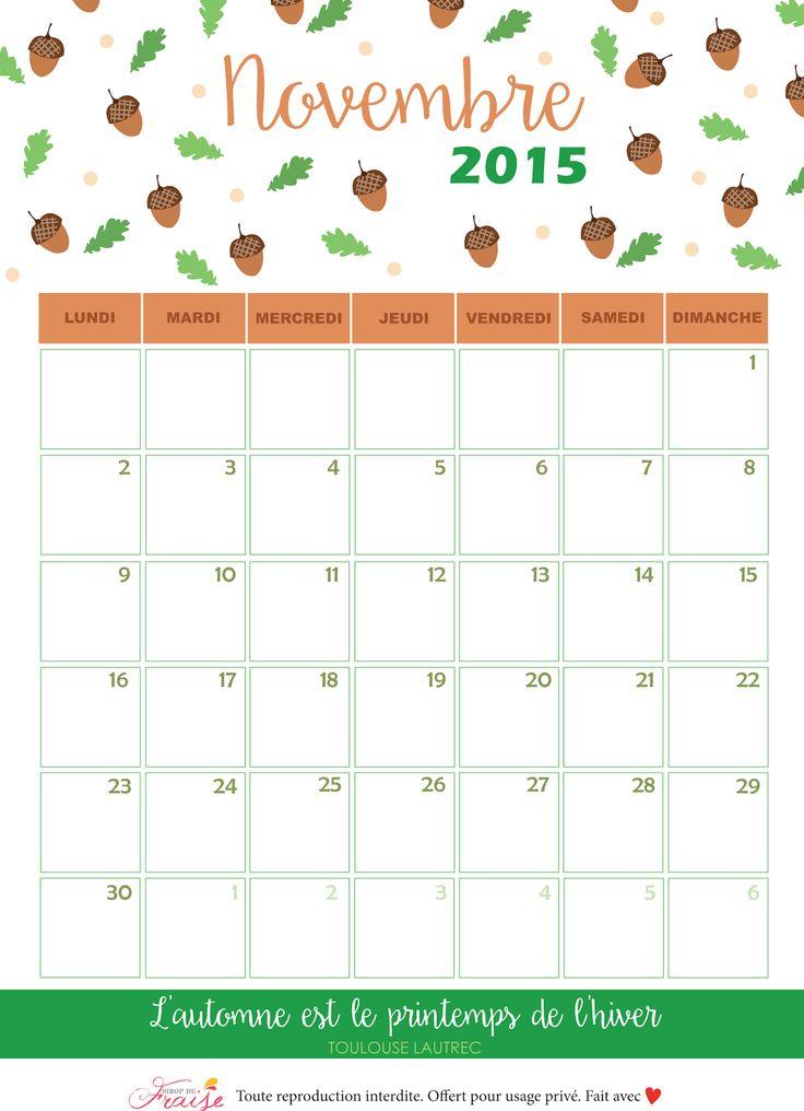 Calendrier DIY novembre 2015 Automne