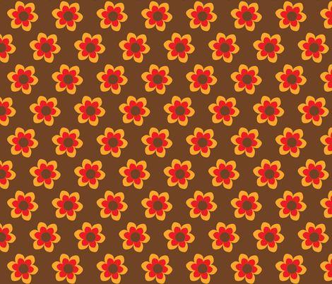 retroflower brown fabric by mofje on Spoonflower - custom fabric