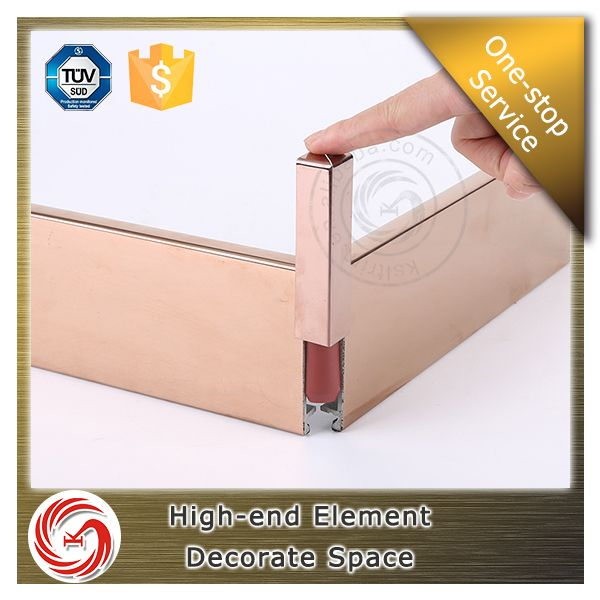 Hotel decoration insect retardant stainless steel skirting board cover