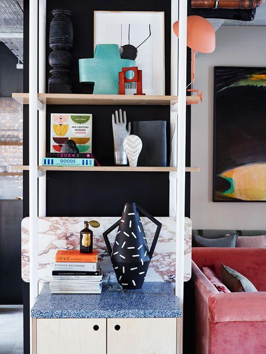 Décor at Alex Hotel designed by interior design studio Arent & Pyke. Caption: Home decor, decoration, objects, details, interior.