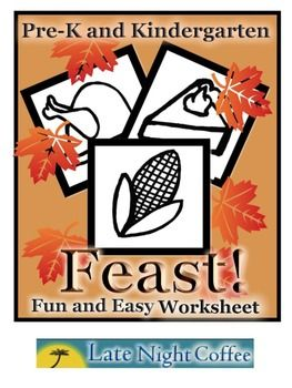 Pre-K and Kindergarten Thanksgiving Feast Sheet