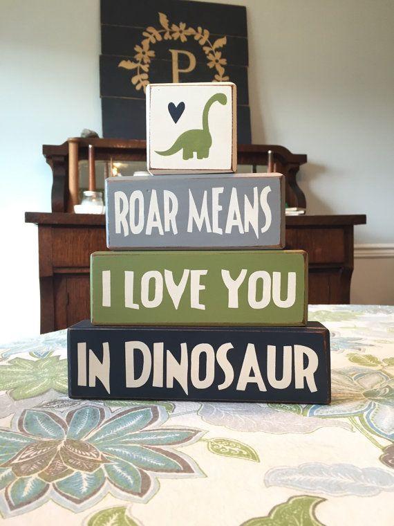 Dinosaur Decor  kid's room  Dinosaur  stacking by AppleJackDesign