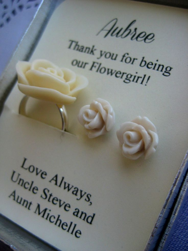 Ask flowergirl junior bridesmaids Rose ring by buysomelove on Etsy, $15.00.