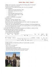 English worksheet: Downton Abbey- Serie1- episod one