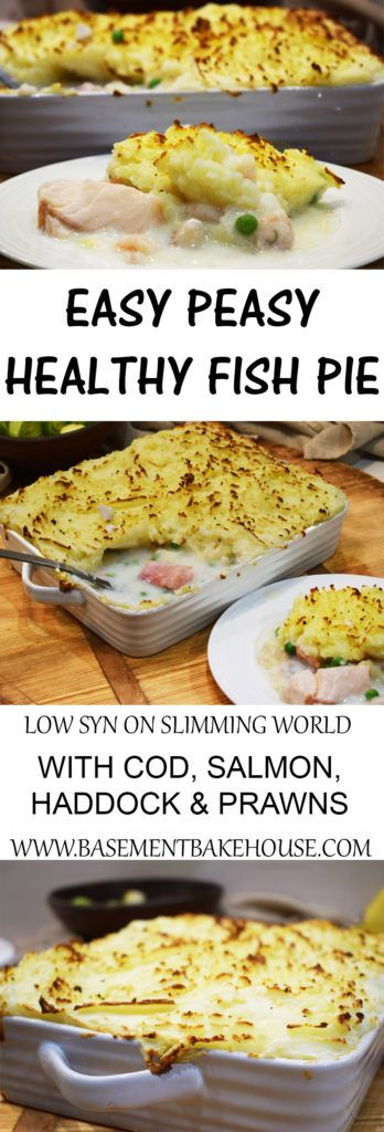 Easy Peasy Homemade Healthy Fish Pie - Slimming World - Low Syn -
