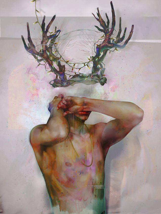 Misteriosos y hermosas pinturas digitales