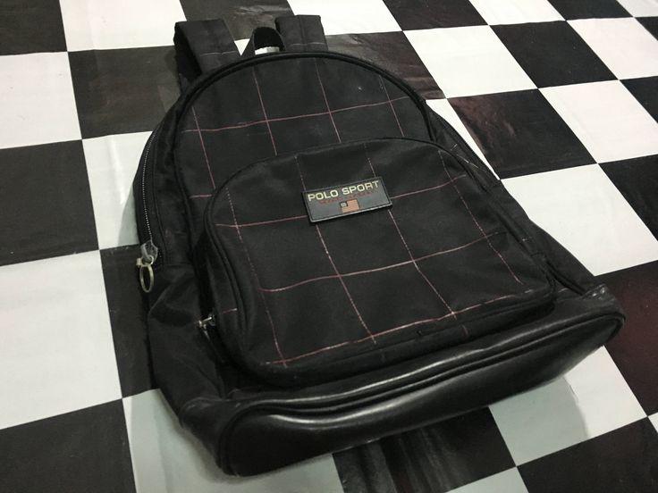 Vintage Polo sport backpack plaid ralph lauren bag Polo sport ralph lauren backpack by AlivevintageShop on Etsy