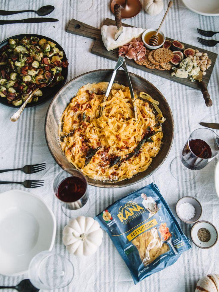 Fall Pasta Dinner: Fall Dinner Menu: Butternut Squash & Pancetta Pasta