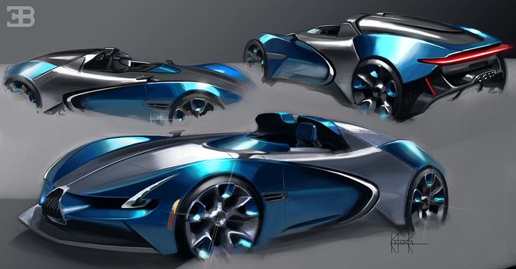 Bugatti Roadster on Behance