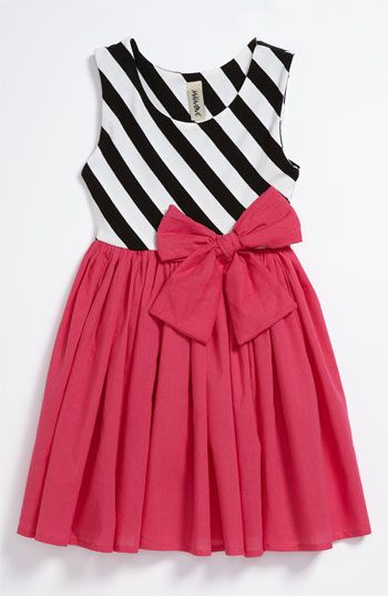 I like the black and white stripes with bright color and of course.. the bow.