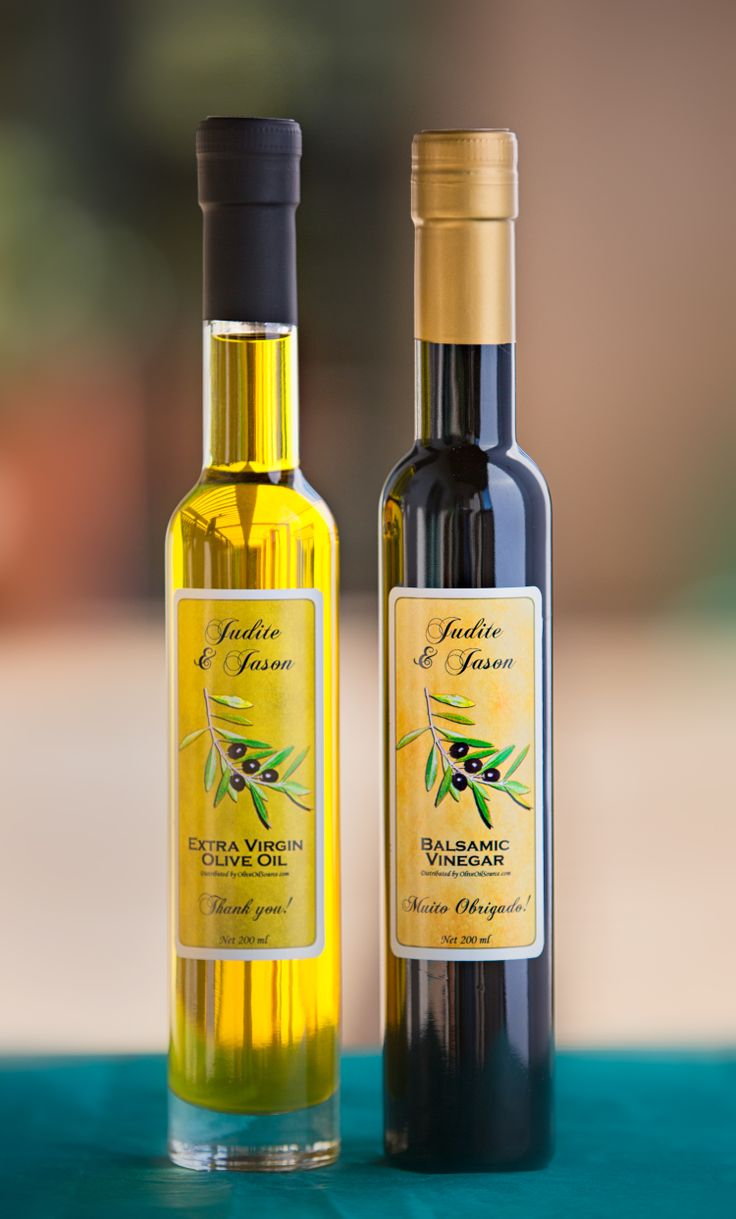 Oil And Vinegar Wedding Favors | Wedding Tips and Inspiration
