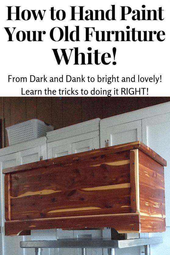 Möbel weiß streichen! Wie es ohne Pinselspuren zu tun blutet gelb …, #bleedi …