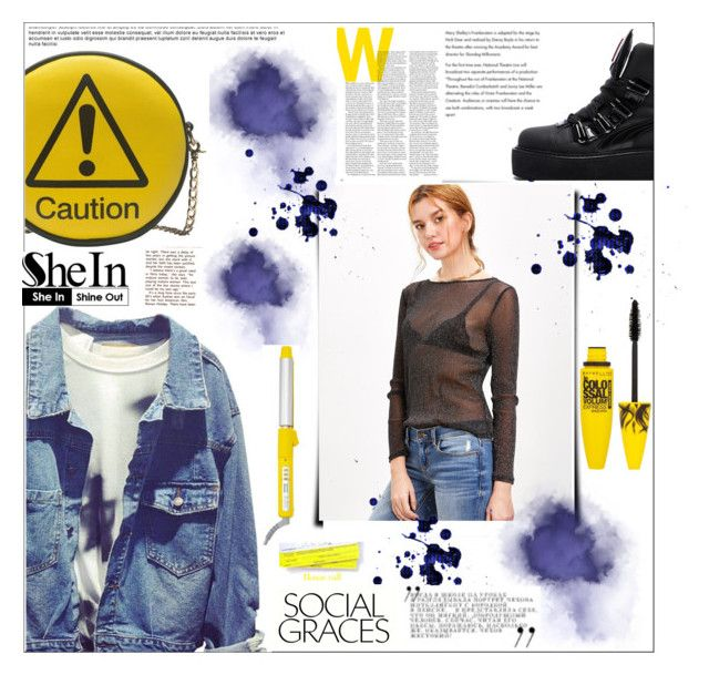 """Caution"" by peta-5 ❤ liked on Polyvore featuring Melie Bianco, Puma, Maybelline and Drybar"