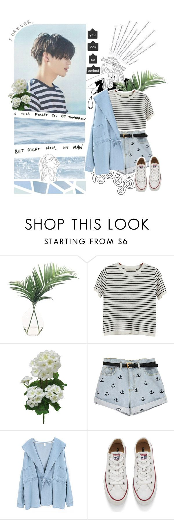 """""""My eyes were looking for you, so I found you"""" by blue-neighbourhxxd ❤ liked on Polyvore featuring NDI, Chicnova Fashion, Katie, Converse, Belle Fleur, Old Navy, kpop, shinee and taemin"""