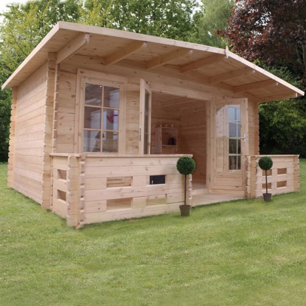 avon 5m x 3m leicestershire log cabin with veranda httpwww