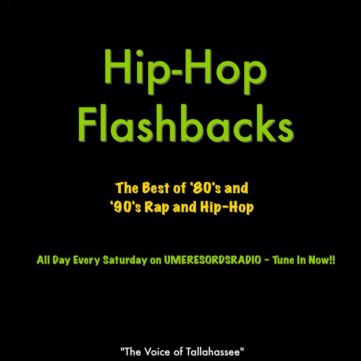 Just Joining Us? Tune in to #HipHopFlashbacks right now and all day every Saturday on UMERECORDSRADIO Bringing you the best of old school hip hop from the 80's and 90's back when hip hop was real and the artists were real, artists like: Run DMC Salt-N-Peppa The LUNIZ JT Money DMX DJ Jazzy Jeff and The Fresh Prince Scarface Outkast Too Short Pete Rock and C.L. Smooth Warren G Biggie Smalls Nas 2Pac Mystikal The Geto Boys Dana Dane and many more!! Click on the link below to Tune In Right Now…