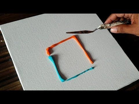 Easy Abstract Painting/Playing around with Acrylic Paints/Satisfying/Demo/Projec…