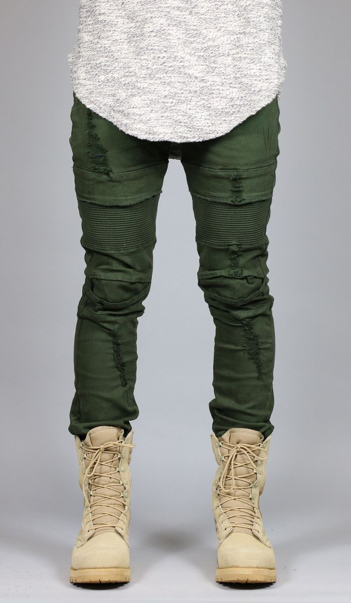 Olive Mir Moto Jean