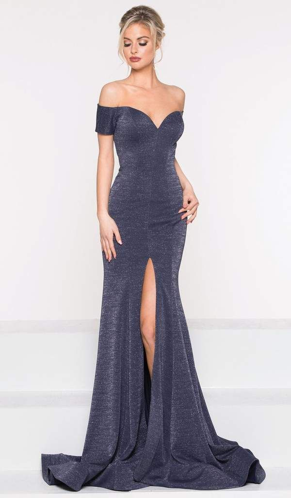 2a83eadfbee160 Colors Dress - 2014 Fitted Off-Shoulder Trumpet Evening Gown in 2019 ...
