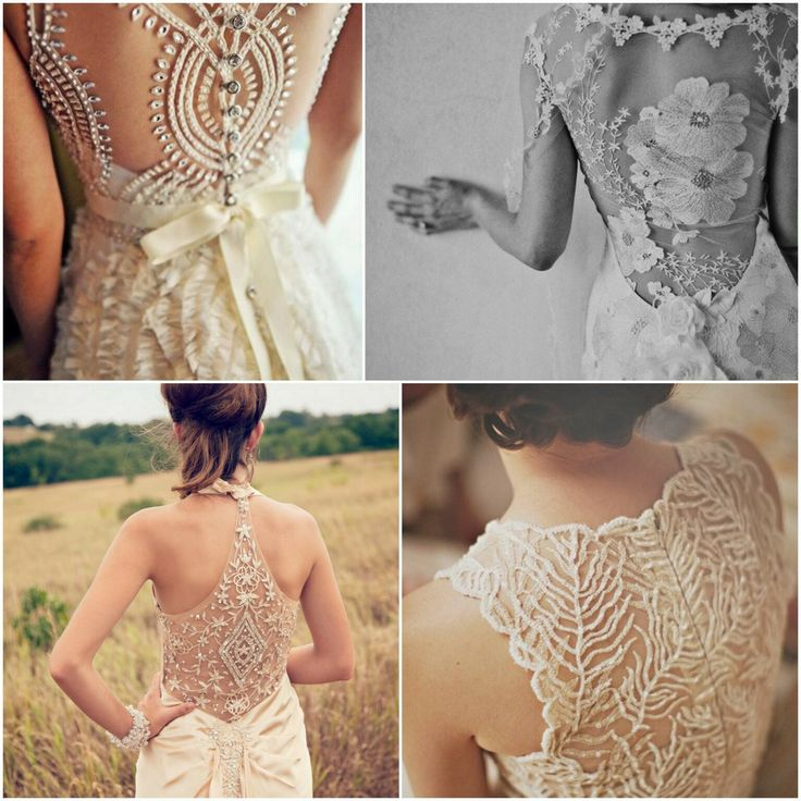 Backs of the dresses