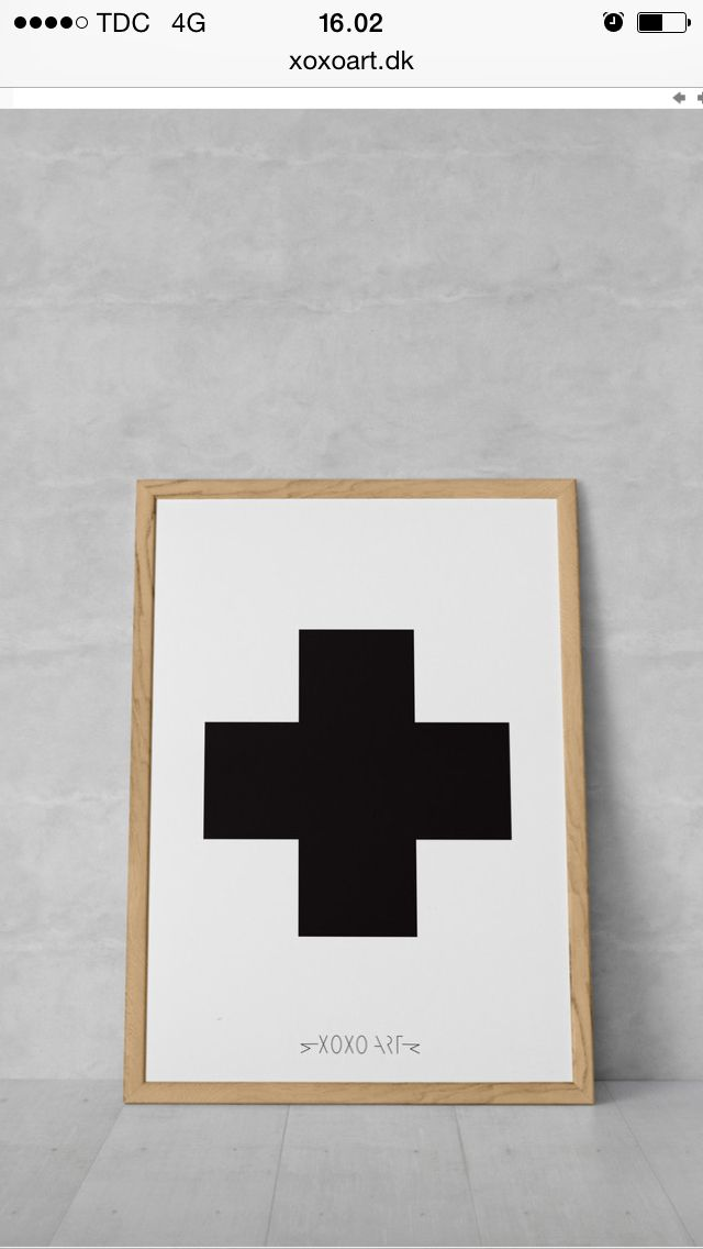 #cross from www.xoxoart.dk #illustration #bolig #interior #living