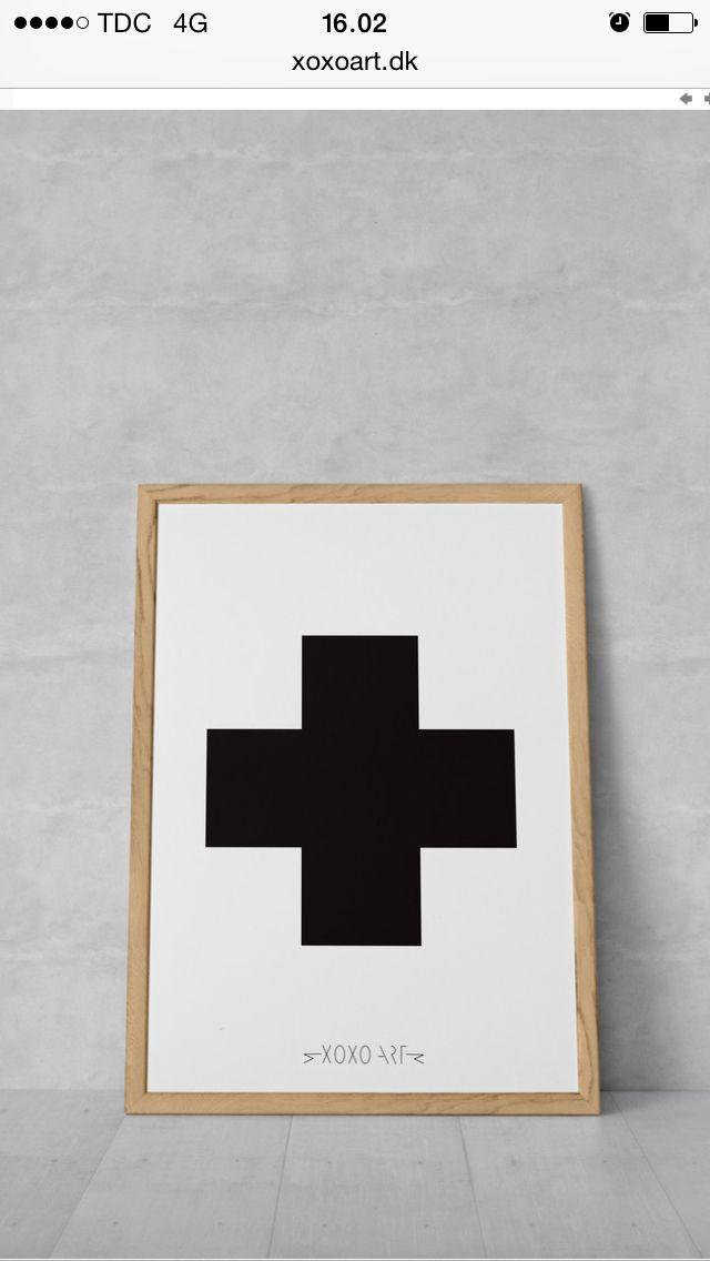 #cross from www.xoxoart.dk #illustration #bolig #interior #living