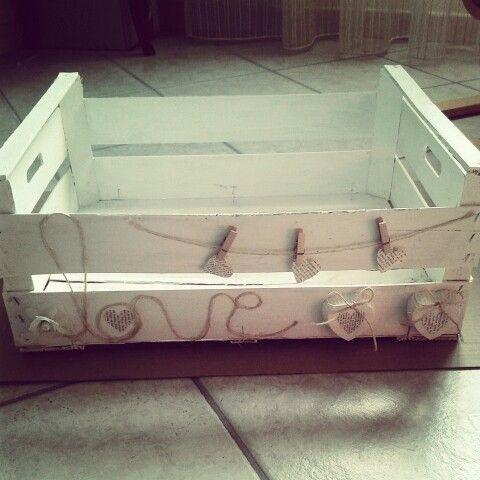 Riciclo di una cassetta di frutta