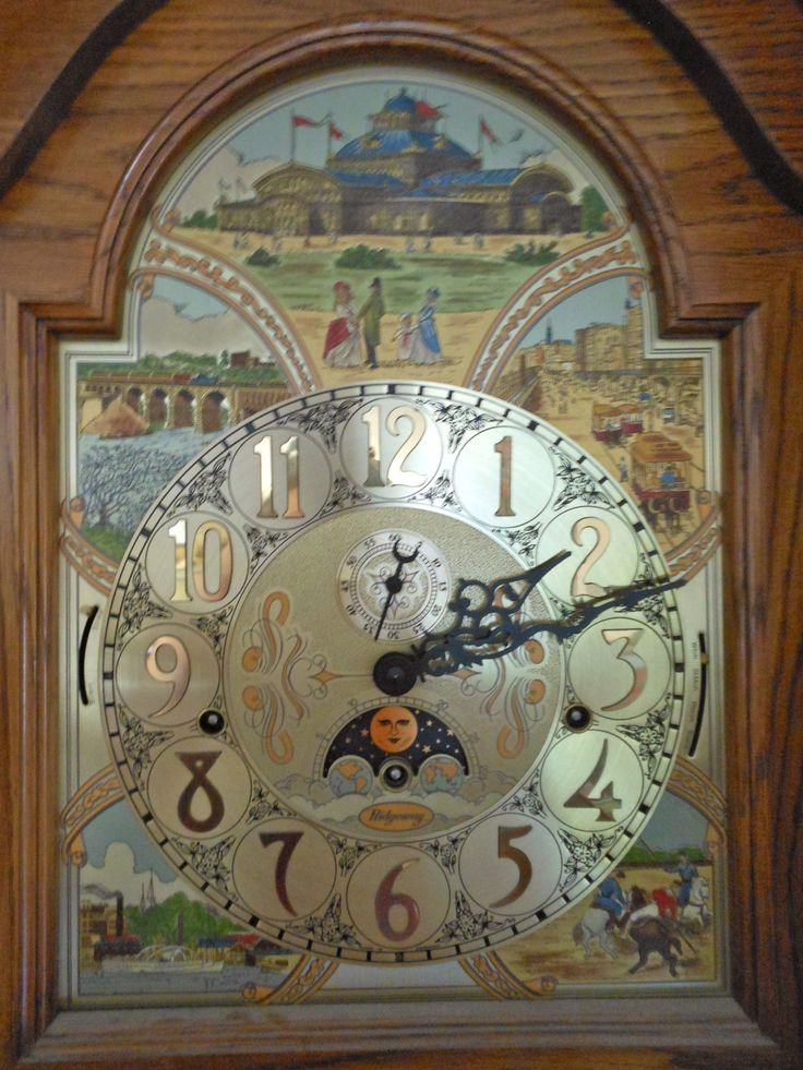 nostalgic face on a ridgeway granfather clock braintree 61315 - Feldstein Kaminsimse
