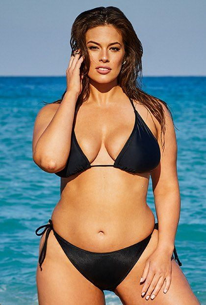 6782d86b2dc Ashley Graham x Swimsuits For All Icon Black Triangle Bikini with ...