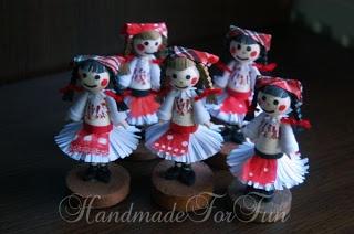 FunQuilling: Miniaturi in costume traditionale