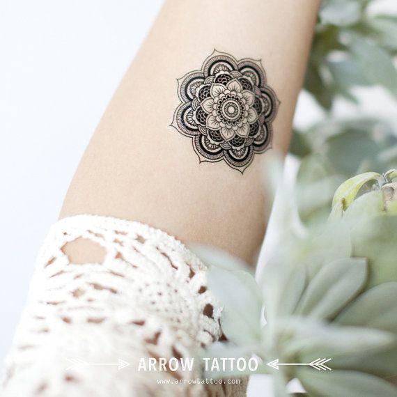 50 % de RÉDUCTION Noël VENTE Boho tatouage Mandala motif tatouage temporaire Tattoo poignet cheville corps autocollant faux tatouage lot de 2