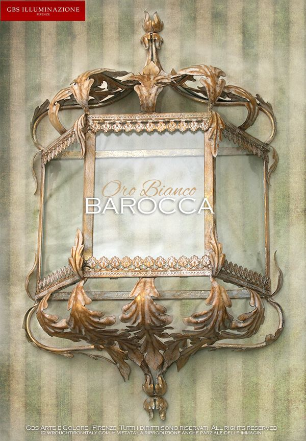 Lanterna da muro – Barocca foglie d'Acanto | GBS Wrought Iron
