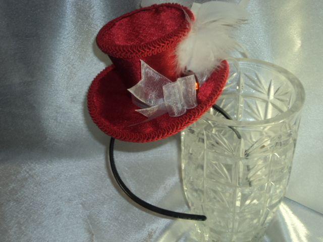 Handmade red top hat