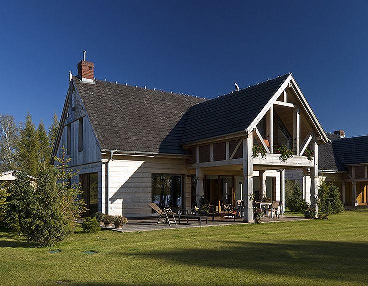 wspołczesny drewniany z tarasem dom - Szukaj w Google