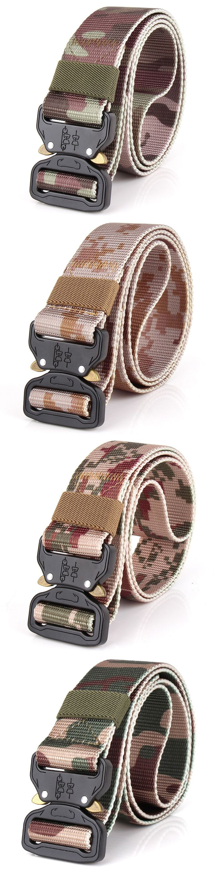 Tactical Belts Military Nylon Belt Mens Special Forces SWAT Army Gear Combat Camouflage Waistband Emergency Survival Waist Belt