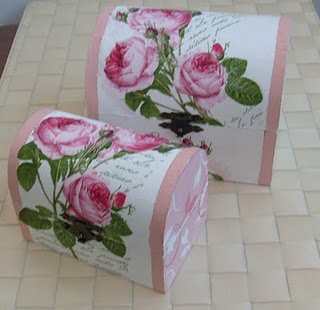 decoupage boxes I made