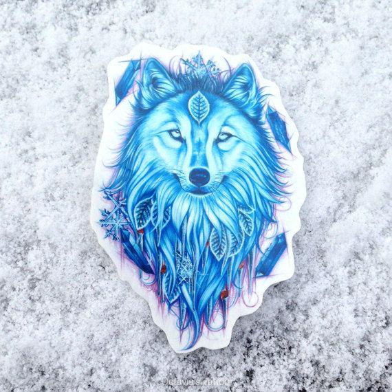 Wolf Temporary Tattoo, Wolf Tattoo, Winter Wolf, Temporary Tattoo, Wolf Gift, Nature Tattoo, Spirit Animal Tattoo, Wolf Spirit Animal