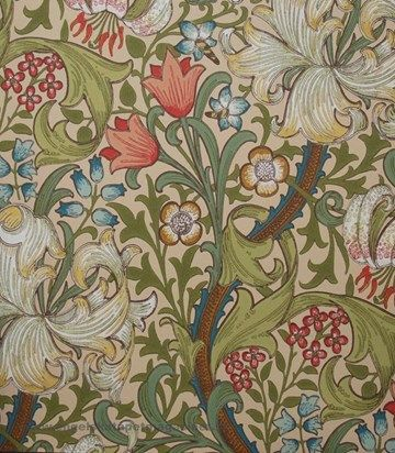 William Morris Golden Lily Tapet