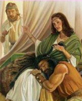 Samson / I am pinning another Delilah, but this one is           accurate. She did not cut his hair, she called for someone else.