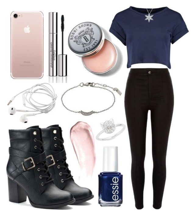 """outfit"" by kwharmony on Polyvore featuring Apt. 9, River Island, Essie, NARS Cosmetics, Boohoo, Karl Lagerfeld, Pilgrim, Sisley and Bobbi Brown Cosmetics"