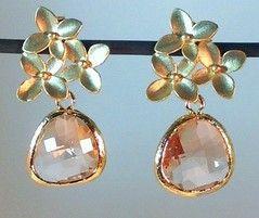 Pink earrings,pink jewerly, Pendientes rosados-pendientes en cuarzos-aretes en cuarzos-aretes rosados