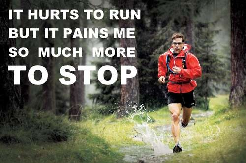 so true. it hurts to run but it pains me so much more to stop. sometimes i underestimate the drive i'm capable of.